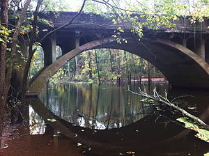 National Register of Historic Places listings in Middletown, Connecticut - Image: Arrawanna Bridge on Coginchaug Middletown CT