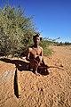 Arri Raats, Kalahari Khomani San Bushman, Boesmansrus camp, Northern Cape, South Africa (19918967844).jpg