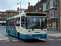 Arriva bus 1679 Dennis Dart Alexander Dash crossed grille P638 PGP in Darlington route 2 branding 5 May 2009.JPG