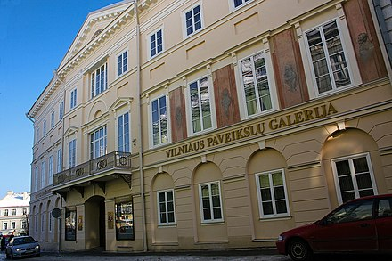 Vilnius Picture Gallery in the old town (former Chodkiewicz Palace) Art Museum of Lithuania.jpg