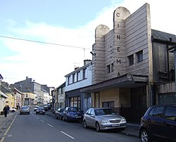 Rathkeale main street, with the former Central Cinema to right