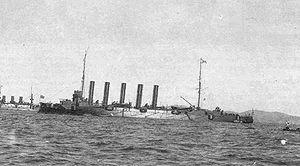 Russian cruiser Askold - Askold at Port Arthur (1904).