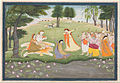 Attributed to Khushala, Indian, active late 18th century - The Gods Sing and Dance for Shiva and Parvati - Google Art Project.jpg