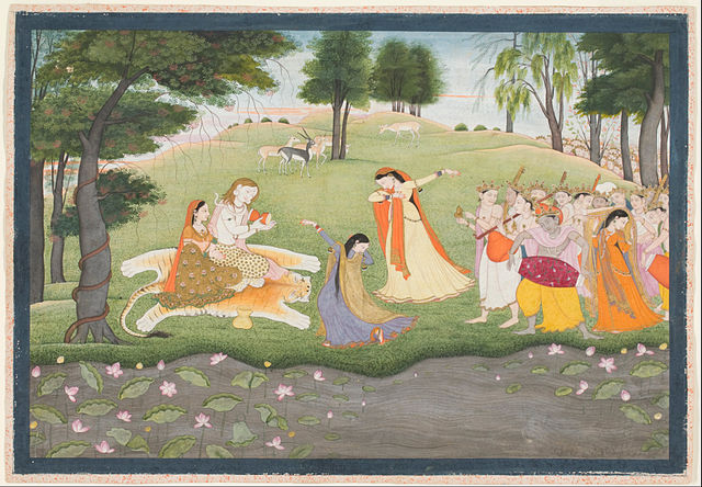 640px-Attributed_to_Khushala,_Indian,_active_late_18th_century_-_The_Gods_Sing_and_Dance_for_Shiva_and_Parvati_-_Google_Art_Project.jpg (640×444)