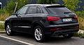 Audi Q3 S-line – Heckansicht, 25. August 2013, Düsseldorf.jpg