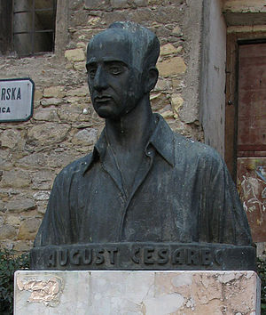 August Cesarec - A bust of August Cesarec in Zagreb