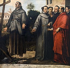 Saint Diego of Alcalá before the cross