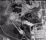 Auschwitz II burning corpses aerial photograph 23 August (cropped).jpg