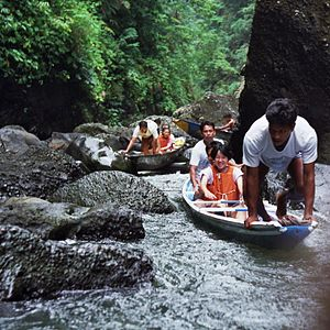 Pagsanjan Falls - Going upstream to the falls then shooting the rapids downstream through the verdant tropical gorge