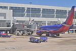 Austin-Bergstrom International Airport plane at gate 01.jpg