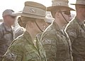 Australian Soldiers during a parade to celebrate their Regiments Birthday in Iraq during October 2017.jpg