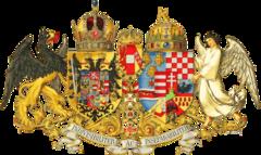 Veliki grb Austro-Ugarske (1867.-1918.). Grb Dalmacije i grb Bosne i Hercegovine nalaze se na oba štita jer su oba dijela Monarhije polagala pravo na ove zemlje