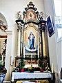 Autel et retable de la Vierge. Eglise de Saint-Cosme.jpg