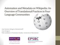 Automation and Metadata on Wikipedia, An Overview of Translational Practices.pdf