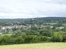 View of Axminster, Devon