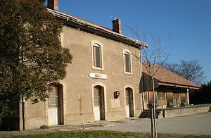 Azille - The old railway station