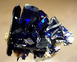 Azurite from Toussit