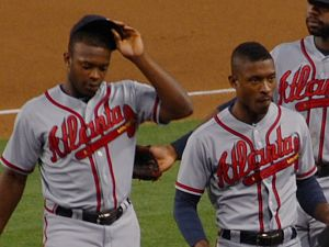 Justin Upton - Justin (left) and Melvin Upton Jr. in 2013