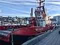 BB COASTER (tug boat, Brevik, 2008) at Stord Harbour in Leirvik, Norway. 2018-03-10 b.jpg