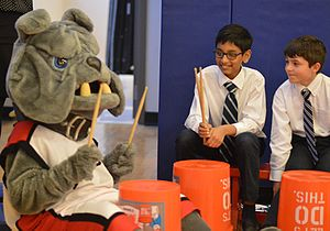 British International School of Chicago Lincoln Park - BISC Lincoln Park's mascot, Barkley the Bulldog.