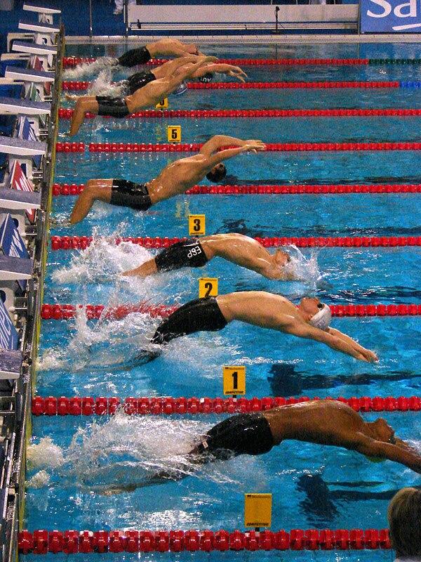 Backstroke start at 2008 EC