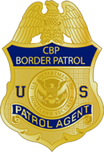 Badge of the United States Border Patrol, circa 2013.
