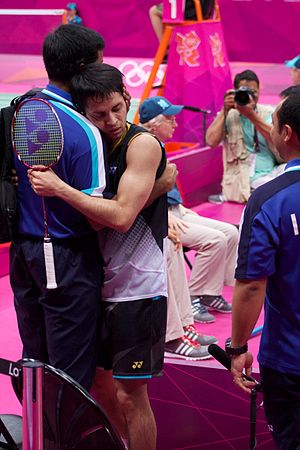 Parupalli Kashyap -  Kashyap and his coach Pullela Gopichand at the 2012 Summer Olympics.
