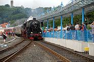Bahnhofsfest Königstein Zugeinfahrt