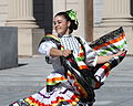Baile folklórico dancer at Yale, October 17, 2008.jpg