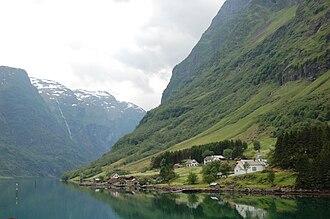 Bakka, Sogn og Fjordane - Image: Bakka Nærøyfjorden