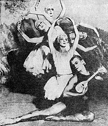 ballet dancers posing in a montage