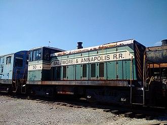 Baltimore and Annapolis Railroad - Image: Baltimore&Annapolis Locomotive 50