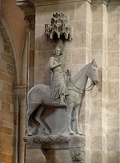 Bamberg Horseman sculpture in the cathedral of Bamberg, Germany