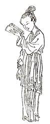 Ban Zhao, mit freundlicher Genehmigung von Huiban, war die erste bekannte chinesische Historikerin.