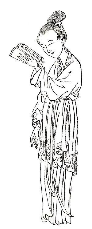 Ban Zhao - Image of Ban Zhao by Shangguan Zhou (上官周, b. 1665)