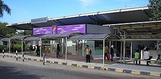 Bandar Tasik Selatan station rail interchange station in Kuala Lumpur