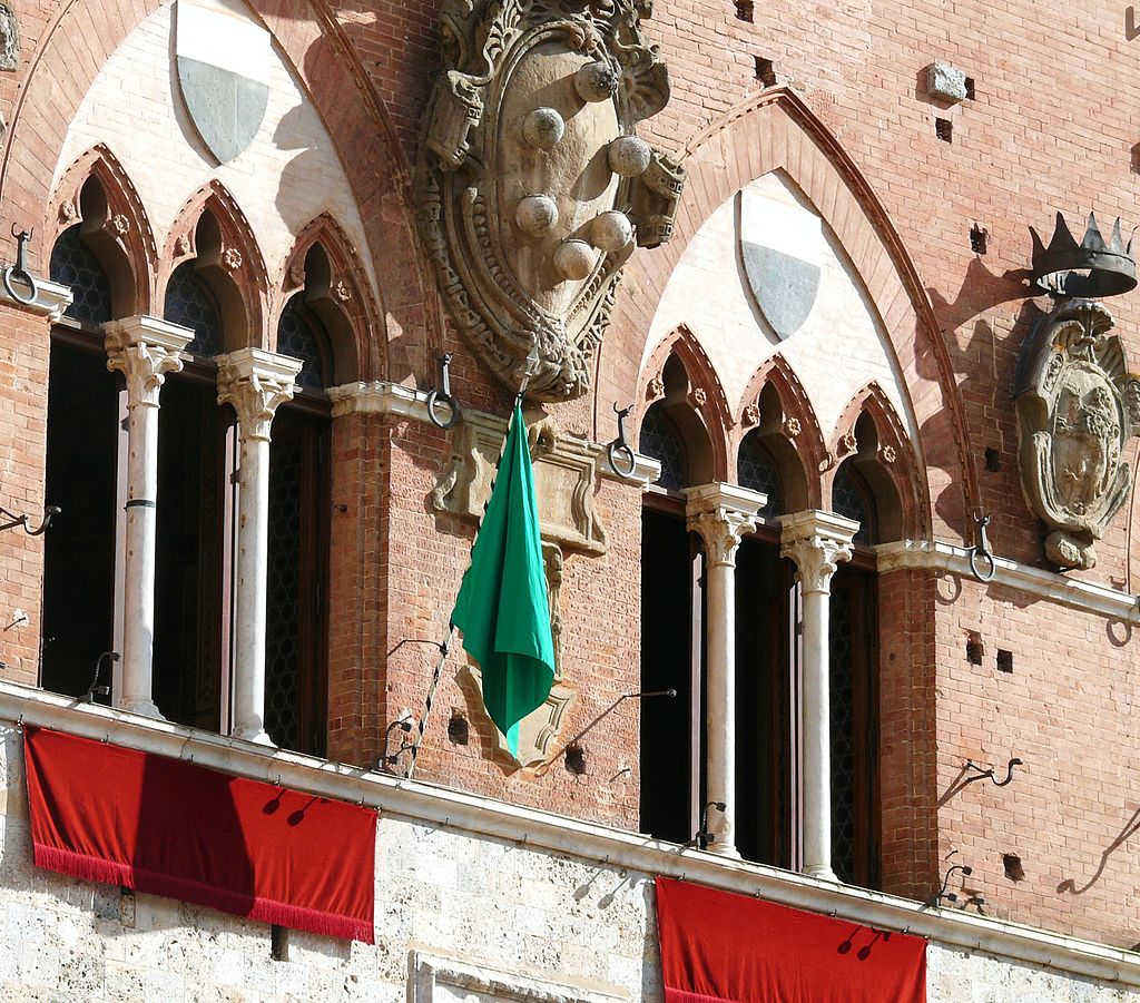 Bandiera verde del palio 16 agosto 2015