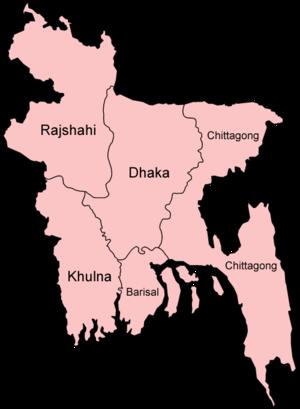 Divisions of Bangladesh - Image: Bangladesh divisions 1993 1998