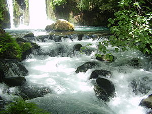 War over Water (Jordan river) - Banias waterfall, Golan Heights