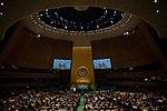 Barack Obama addresses the United Nations General Assembly