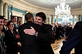 Barack Obama greets Mark Lippert, U.S. Ambassador to the Republic of Korea, 2014.jpg