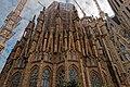 Barcelona - Carrer de Provença - View East on oldest part of La Sagrada Família- The Tower of the Virgin I.jpg