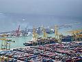 Barcelona port from Montjuic Castle (2930159884).jpg