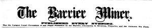 The Barrier Miner - The Barrier Miner Masthead