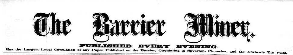 The Barrier Miner Masthead