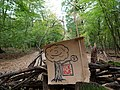 Barrier with protest-signs in the Hambach forest 03.jpg