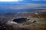 The Barringer Crater (Meteor Crater) east of Flagstaff, Arizona