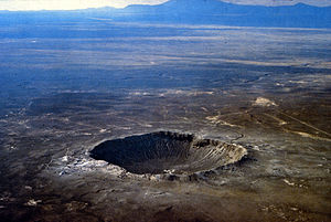 Impact crater - The Barringer Crater (Meteor Crater) east of Flagstaff, Arizona