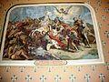 Bassoues (Gers) église paroissiale, peinture St.Fris vainqueur des sarrassins.JPG