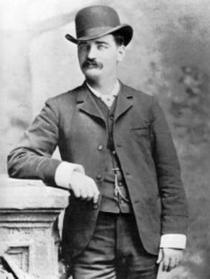 Western wear - Lawman Bat Masterson wearing a bowler hat